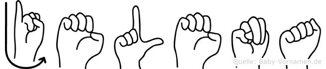 Jelena im Fingeralphabet der Deutschen Gebärdensprache