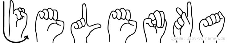 Jelenka im Fingeralphabet der Deutschen Gebärdensprache