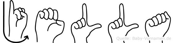 Jella im Fingeralphabet der Deutschen Gebärdensprache