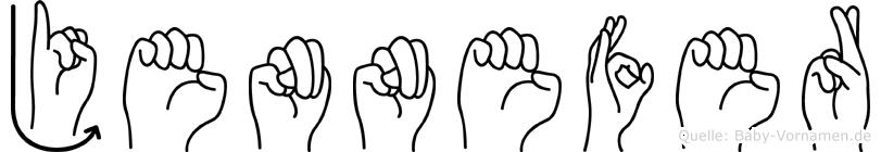 Jennefer im Fingeralphabet der Deutschen Gebärdensprache