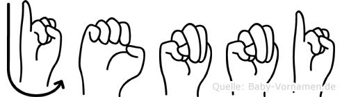 Jenni in Fingersprache für Gehörlose