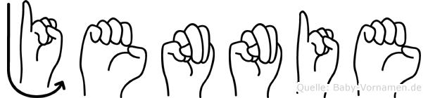 Jennie in Fingersprache für Gehörlose