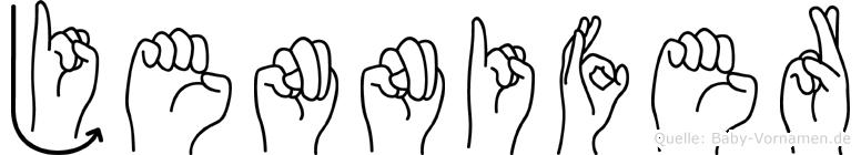 Jennifer in Fingersprache für Gehörlose