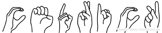 Cedrick in Fingersprache für Gehörlose