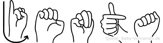 Jenta im Fingeralphabet der Deutschen Gebärdensprache
