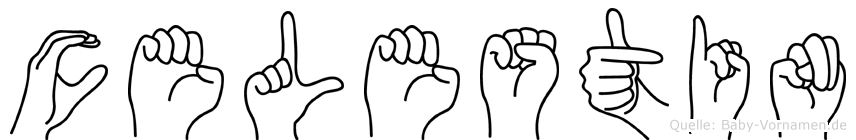 Celestin im Fingeralphabet der Deutschen Gebärdensprache