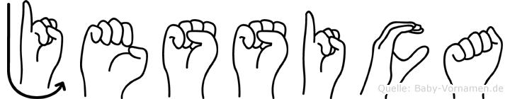Jessica in Fingersprache für Gehörlose
