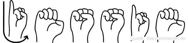 Jessie in Fingersprache für Gehörlose
