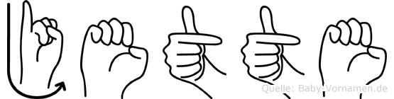 Jette im Fingeralphabet der Deutschen Gebärdensprache