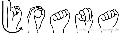 Joana in Fingersprache für Gehörlose