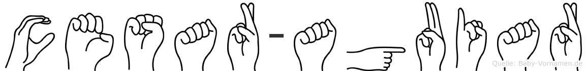 Cesar-Aguiar im Fingeralphabet der Deutschen Gebärdensprache