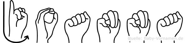 Joanna in Fingersprache für Gehörlose