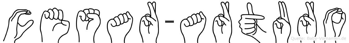 Cesar-Arturo im Fingeralphabet der Deutschen Gebärdensprache