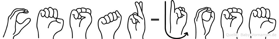 Cesar-Jose im Fingeralphabet der Deutschen Gebärdensprache