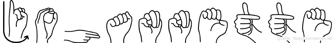 Johannette im Fingeralphabet der Deutschen Gebärdensprache