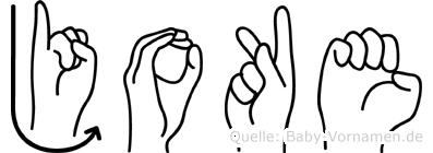 Joke im Fingeralphabet der Deutschen Gebärdensprache