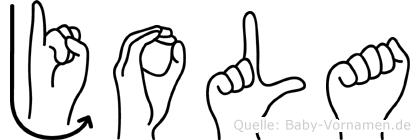 Jola in Fingersprache für Gehörlose