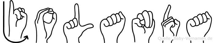Jolanda in Fingersprache für Gehörlose