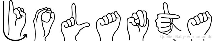 Jolanta in Fingersprache für Gehörlose