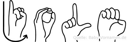 Jole in Fingersprache für Gehörlose