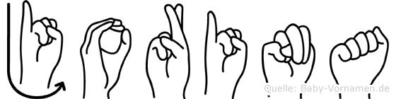Jorina im Fingeralphabet der Deutschen Gebärdensprache