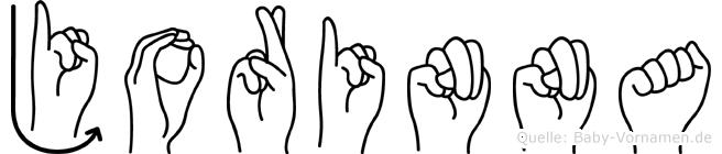 Jorinna in Fingersprache für Gehörlose