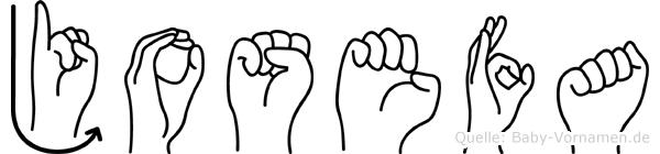Josefa in Fingersprache für Gehörlose