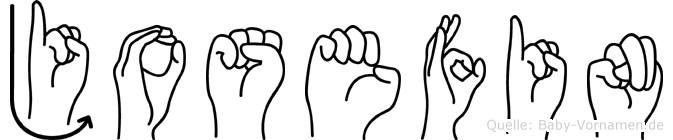 Josefin im Fingeralphabet der Deutschen Gebärdensprache