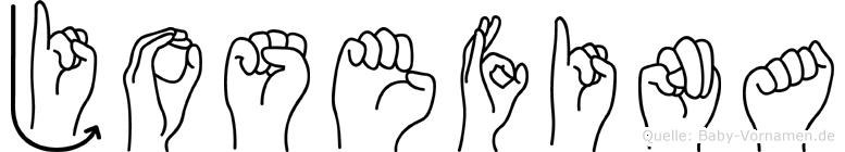 Josefina in Fingersprache für Gehörlose