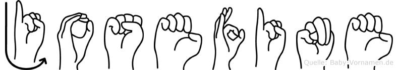 Josefine in Fingersprache für Gehörlose