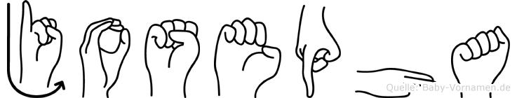 Josepha in Fingersprache für Gehörlose