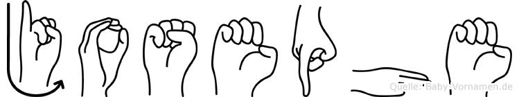 Josephe im Fingeralphabet der Deutschen Gebärdensprache