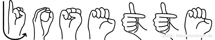 Josette im Fingeralphabet der Deutschen Gebärdensprache