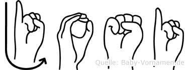 Josi in Fingersprache für Gehörlose