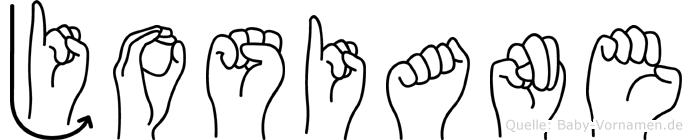 Josiane im Fingeralphabet der Deutschen Gebärdensprache