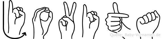 Jovita im Fingeralphabet der Deutschen Gebärdensprache