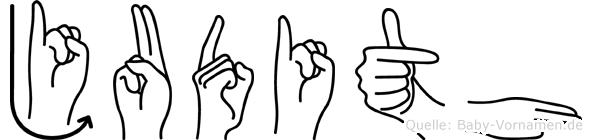 Judith im Fingeralphabet der Deutschen Gebärdensprache