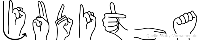 Juditha in Fingersprache für Gehörlose