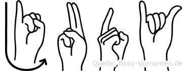Judy in Fingersprache für Gehörlose