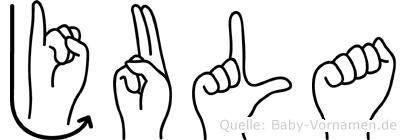 Jula in Fingersprache für Gehörlose