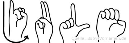 Jule in Fingersprache für Gehörlose
