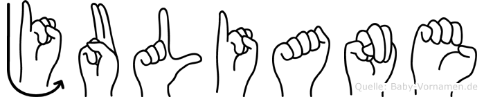 Juliane im Fingeralphabet der Deutschen Gebärdensprache