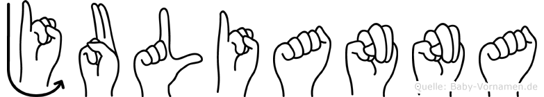 Julianna im Fingeralphabet der Deutschen Gebärdensprache