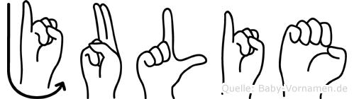 Julie in Fingersprache für Gehörlose
