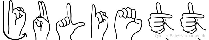 Juliett im Fingeralphabet der Deutschen Gebärdensprache