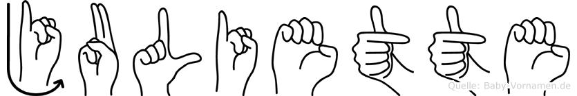 Juliette in Fingersprache für Gehörlose