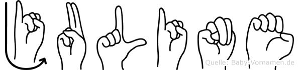 Juline in Fingersprache für Gehörlose