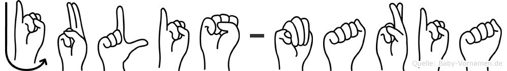 Julis-Maria im Fingeralphabet der Deutschen Gebärdensprache