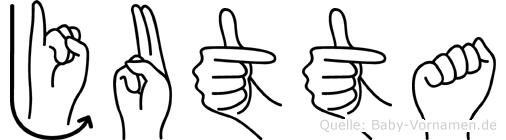 Jutta in Fingersprache für Gehörlose