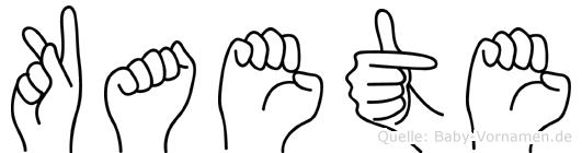 Kaete in Fingersprache für Gehörlose